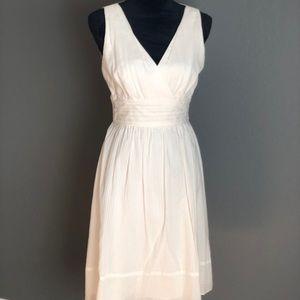 WHBM off white spring dress.